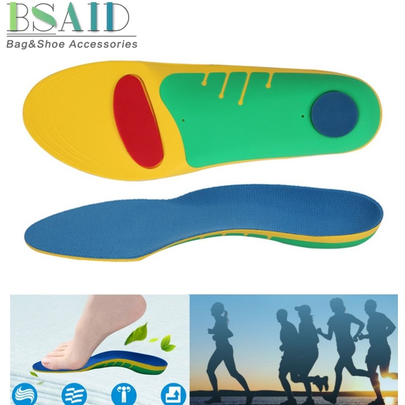 BSAID 1 Pair Orthotic Shoes Insoles Insert Breathable High Quality EVA Professional Foot Arch Support Insole Pad For Women Men