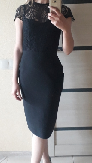 Summer Women White Bandage Dress Vestidos Sexy Black Lace Short Sleeve Hollow Out Club Dress Evening Party Dress photo review