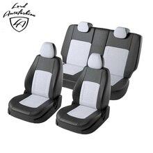 Для Hyundai Solaris Седан 2011-2016 Комплект модельных авточехлов из экокожи (для а/м с задней спинкой 60/40) (Модель Турин)