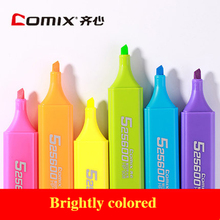 ФОТО comix 6 colors highlighter fluorescent pen highlight marker color pens Mark Pen Stationery student Office School supplies