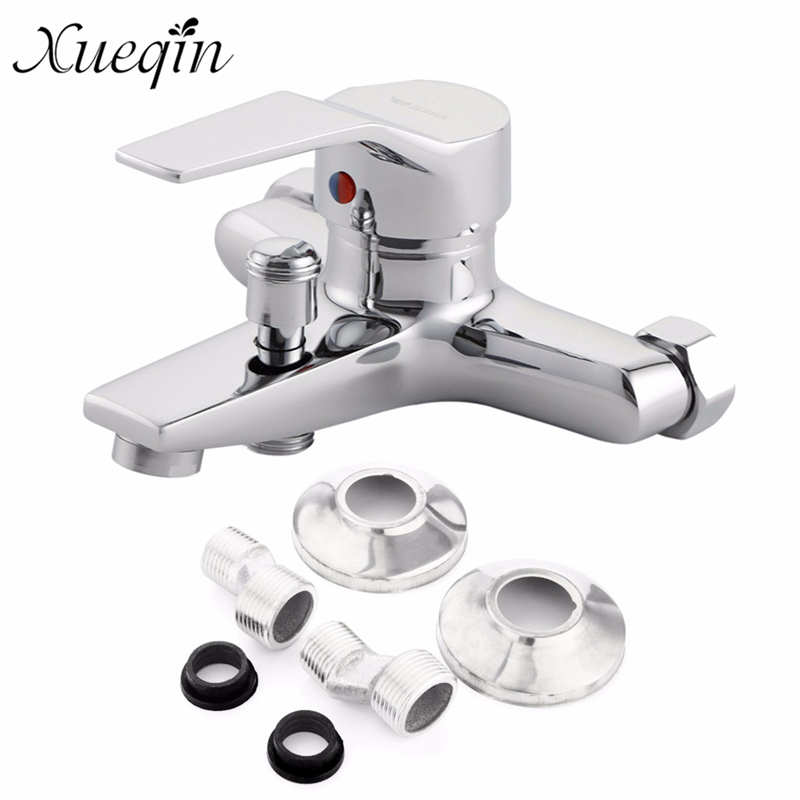 Xueqin Wall Mounted Bathroom Faucet Bath Tub Mixer Tap Shower Faucet Chrome Finish Thermostatic Shower Mixer