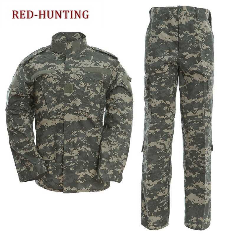 Военная Униформа Тактический Atacs a-tacs FG камуфляж PC рубашка из ткани Рипстоп и брюки армейский боевой комплект пальто