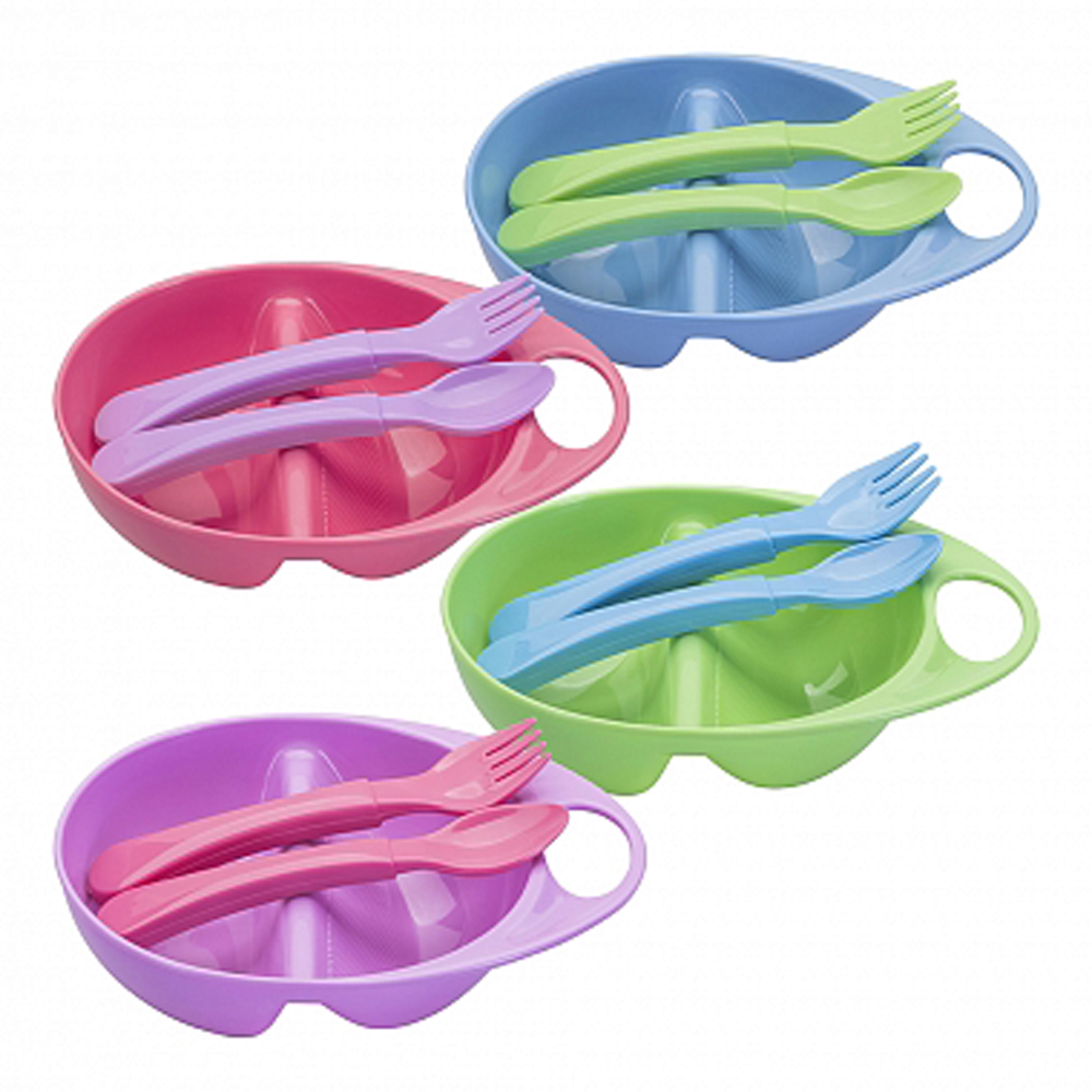 Dishes KURNOSIKI 17314 for boys and girls Baby tableware plate set children products childrens