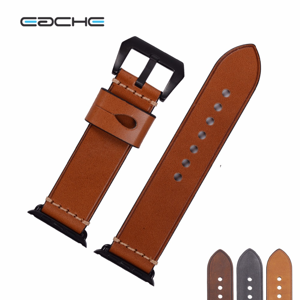 EACHE 42mm Replacement watch straps Fit For Apple Watch Genuine leather Watch Band For iwatch Women Or Men