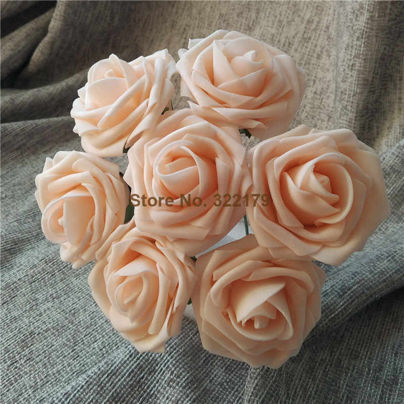 Blush Pink Flowers Artificial Wedding Flowers 100 Roses For Bridal Bouquets Wedding Table Centerpiece Decoration Lnpe057