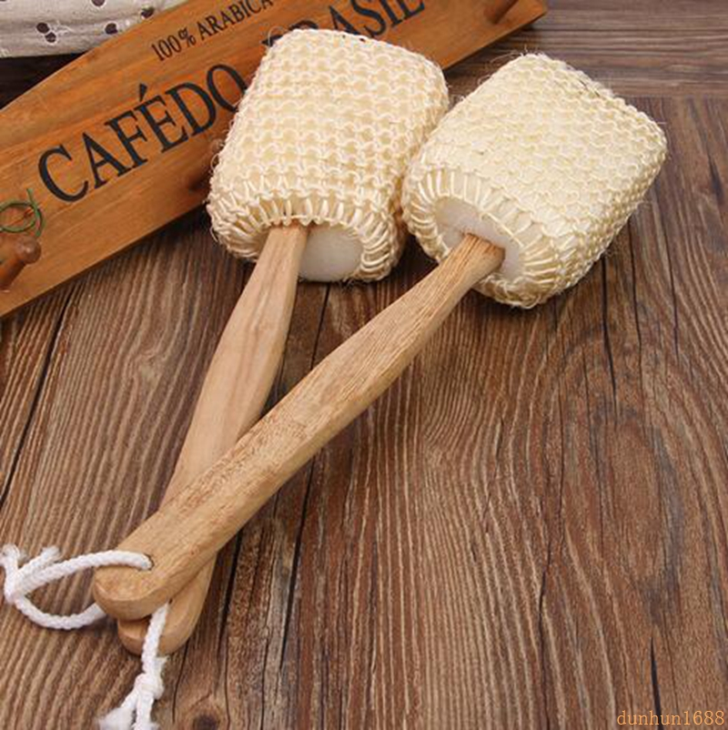 Pincel de Esponja Escova de Banho Densidade Natural Sisal Voltar Lavar 433 50 Pcs