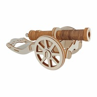 Toy Gun Ming Dynasty Cannon Model DIY Kids 3D Wooden Puzzle Parent Child Interactive Wooden Toys