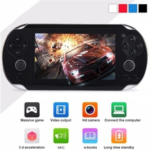 Portable Handheld Game Players 4.3 Inch Screen 300 Built in Video Camera Console With 8GB Memory 32 Bit
