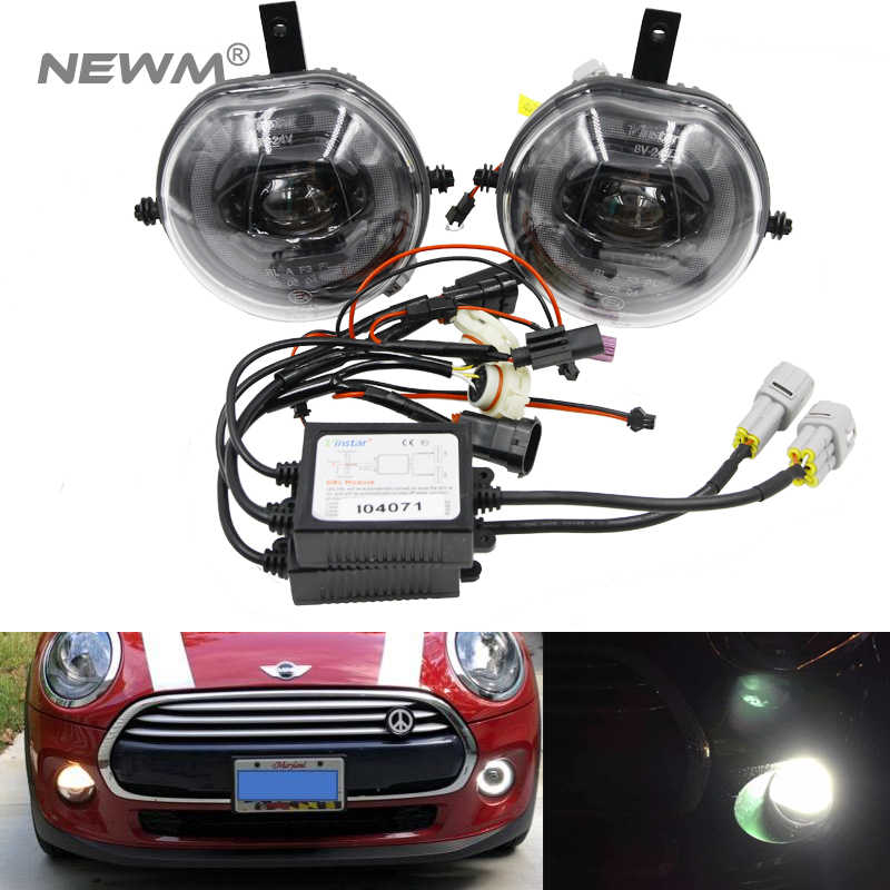 1 Pasang LED Halo Cincin Siang Hari Lampu Kabut Assembly For MINI COOPER S F54 F55 F56
