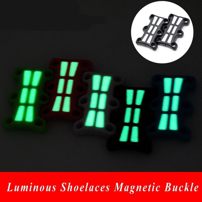 1 paar kingapaelad helendavad magnetilised pandlad sulgemise jalatsite kingad magnet magnetlukud hõõguv kingapael pannal ilma lips kinga pitsid