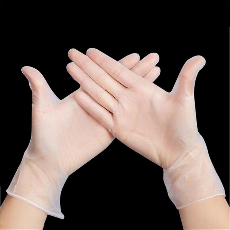 купить 5pairs High Quality Disposable PVC Gloves Cleaning Tools Kitchen Medicinal Food Butcher Laboratory Protective Working Medical по цене 119.66 рублей