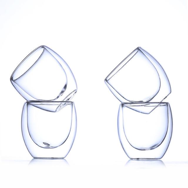 Egg Shaped Double Wall Shot Glasses Set