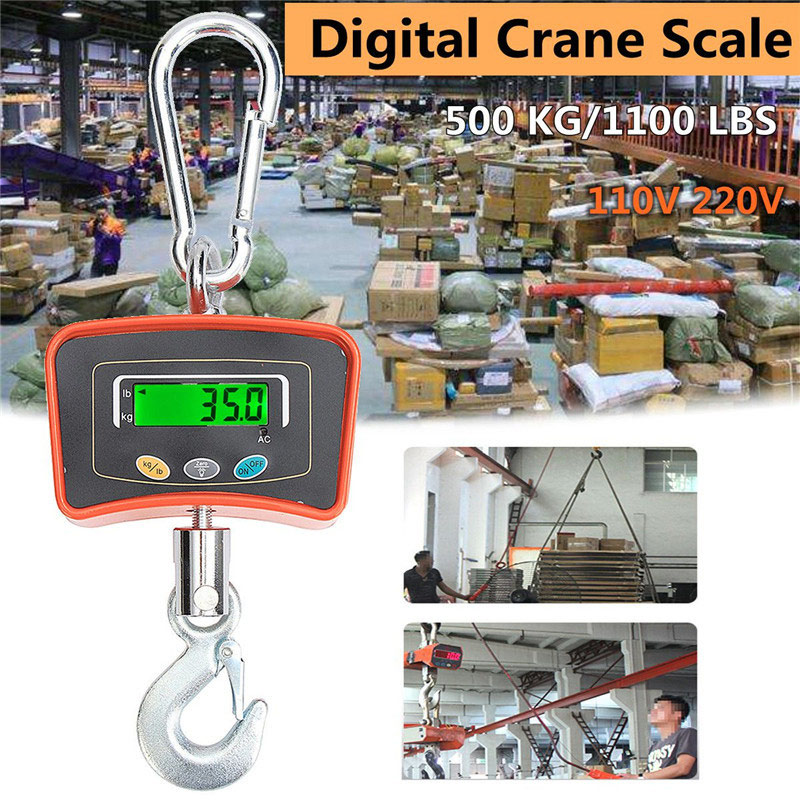 Здесь продается  110V/220V Digital Crane Scale 500KG/1100 LBS Heavy Duty Industrial Hanging Scale Electronic Weighing Balance  Инструменты