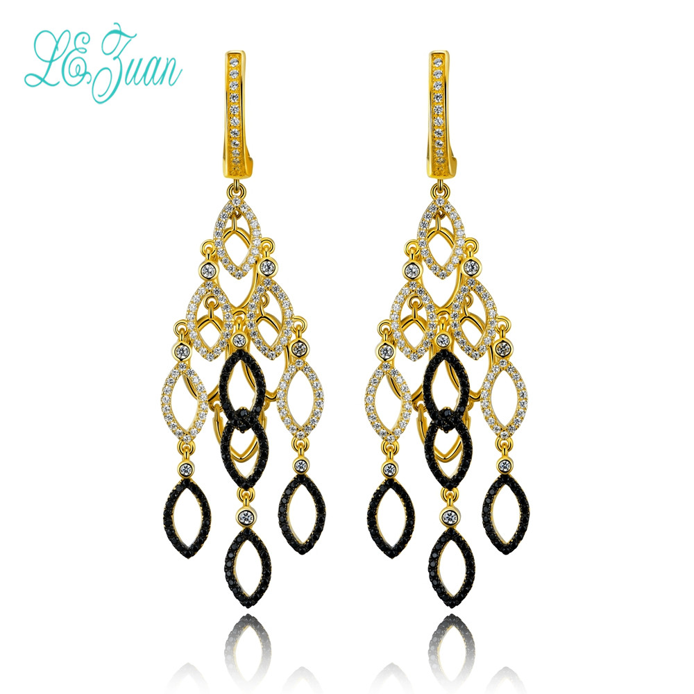 l&zuan S925 Silver Earrings For Women Popular Bohemian Style Multicolor Zircon Fashion and fine Jewelry Party Christmas Gifts fashion viscose vest style dress for women black multicolor size l