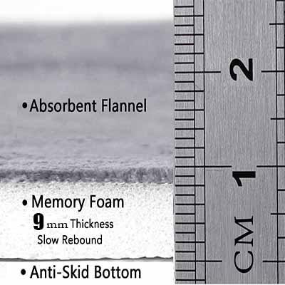 Autre bohème bleu oiseau plume noir plancher impression 3d antidérapant microfibre lavable Long coureur tapis de sol tapis tapis couloir tapis - 4