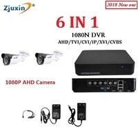 1PC 6IN1 4CH 1080N AHD DVR KIT 1080P HD Indoor Use 5 36 Ir Led Security