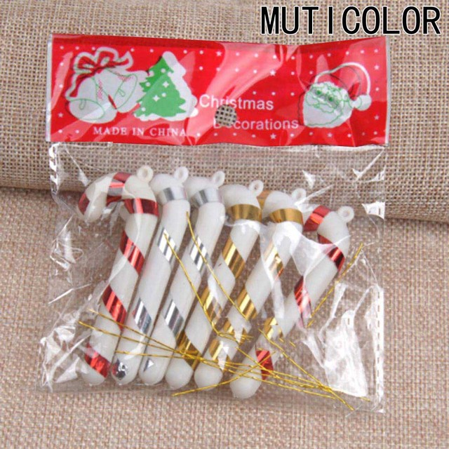 6 Pcs Christmas Candy Cane Ornaments Festival Party Xmas Tree Hanging Decoration Christmas Decoration Supplies 3