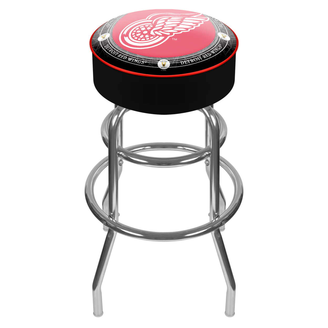 Throwback Detroit Redwings Padded Swivel Bar Stool 30 Inches High eurofit detroit