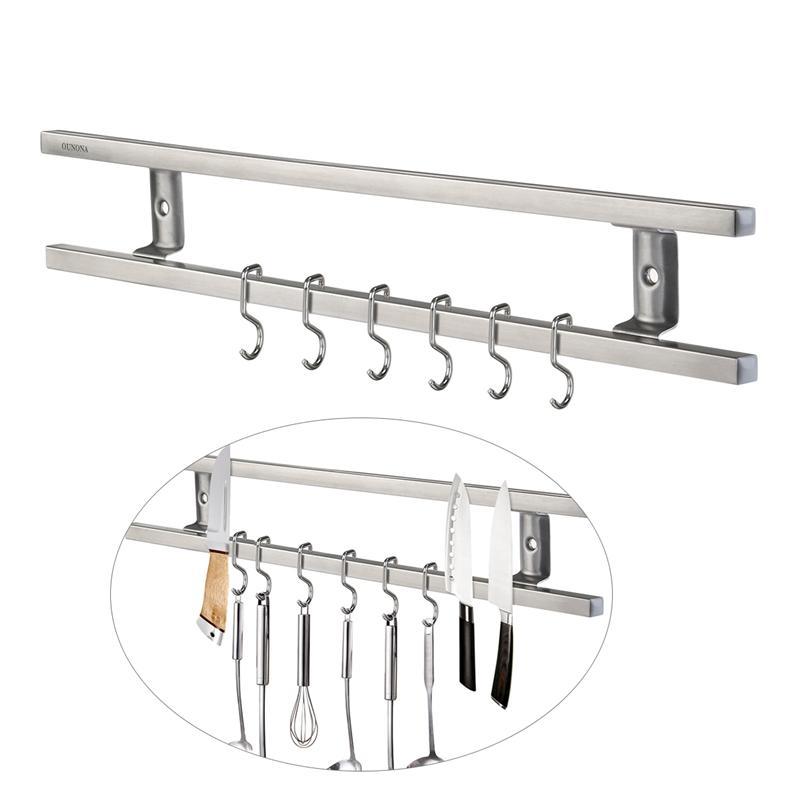 Mural Magnétique Porte-Couteau Double Bar Couteau Rack pour Couteaux Ustensiles et Cuisine Ensembles Accessoreis