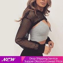 цена на 2019 Sexy Tops Women Ladies Super Short Shirt Hollow out Black White Hooded Blouse