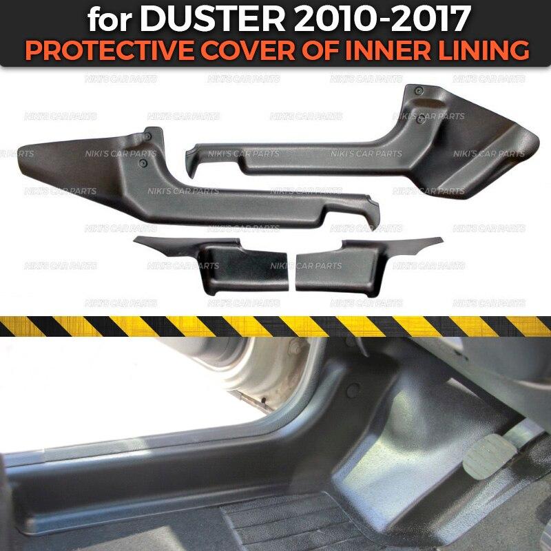 Защитные чехлы для Renault/Dacia Duster 2010 2017 внутренней подкладки ABS пластик отделка Аксессуары защита ковров Стайлинг-in Хромирование from Автомобили и мотоциклы