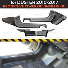 Защитные чехлы для Renault / Dacia Duster 2010 2017, внутренняя подкладка из АБС пластика, аксессуары для отделки, защита ковра