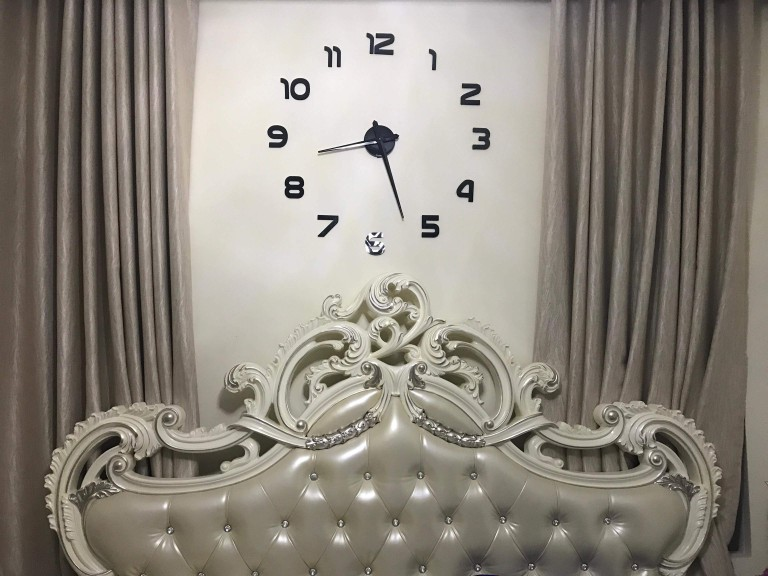 Large Modern Mirror Wall Clock for Home Office or Bedroom