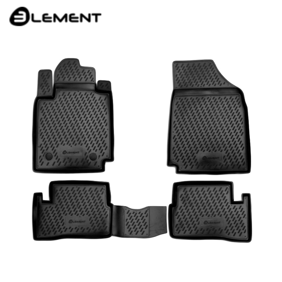 For Nissan Micra K12 2005-2010 floor mats into saloon 4 pcs/set Element CARNIS00003 for suzuki sx4 2010 2013 floor mats into saloon 4 pcs set element carszk00003