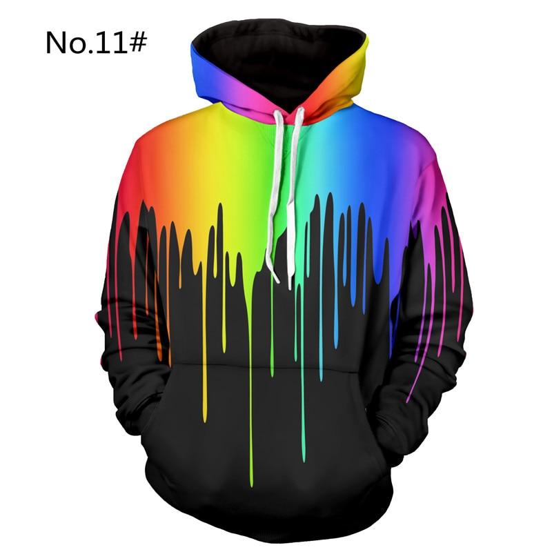 3D Hoodies Men Casual Hip Hop 3D Printed Hooded Hoodie Sweatshirt Mens Fashion Hoody Pullover Loose Baggy Tops Plus Size 2018