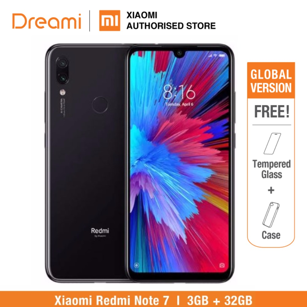 Global Version Redmi Note 7 32GB ROM 3GB RAM (Brand New and Sealed Box) note7 32gb