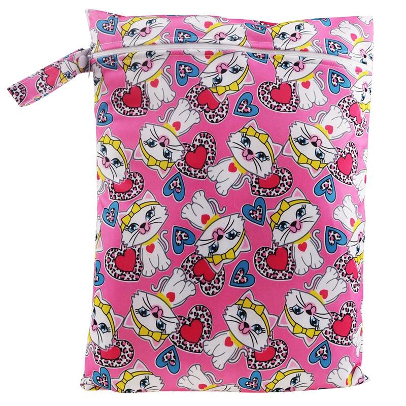 30*40cm cartoon single pocket diaper bag waterproof wet bag for baby diaperQH