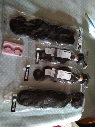 Beauhair Малайзии тело волна человеческих волос Ткань 2 или 3 Связки с 13*4 Кружева Фронтальная застежка не Remy С пучки волос