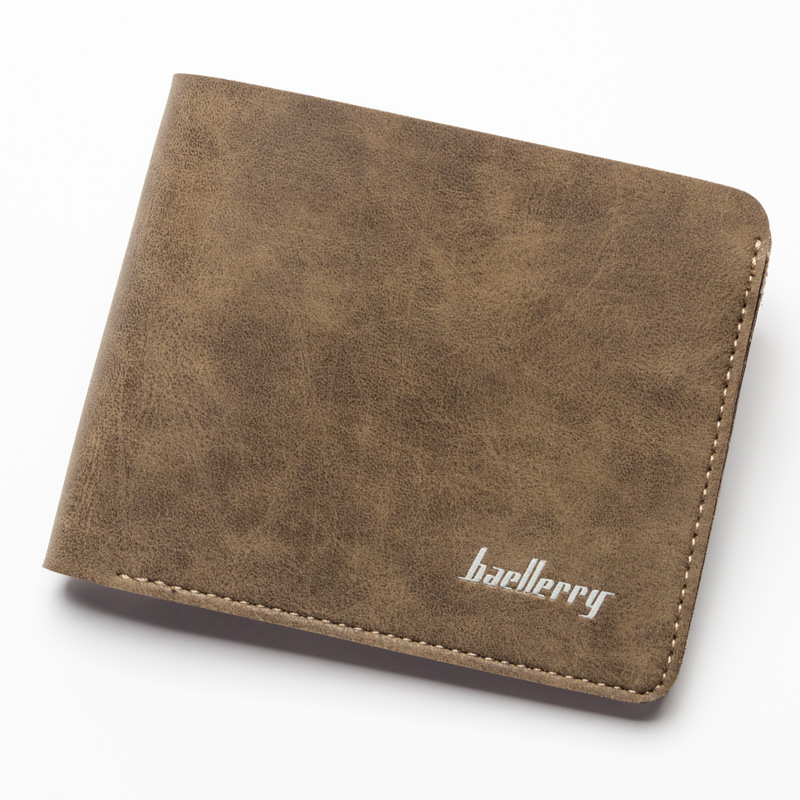 New Fashion Men Wallets short Frosted leather retro Wallet Credit Card Holder Coin Pocket Male Money Billfold For Men Purse