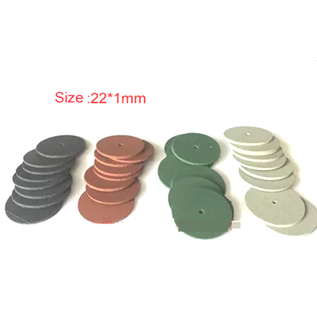 100PCS 22*1mm Slim Dental rubber tire rubber polishing wheel for dental equipment tools and jewelry Jewelry Buffing