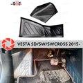 Voor Lada Vesta 2015-plaat van binnenvoering onder voeten trim accessoires bescherming van tapijt styling beschermende covers tapijt