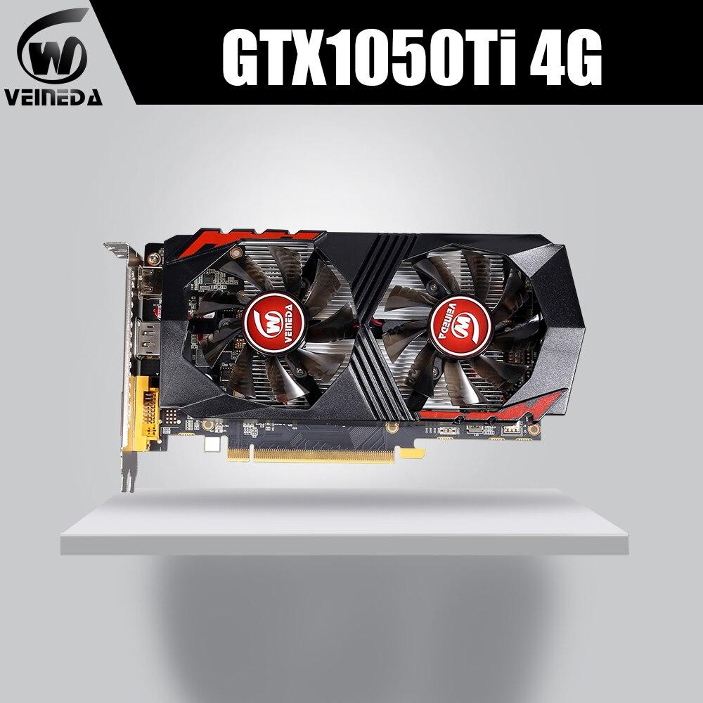 GTX1050Ti para Computador Placa Gráfica PCI-E Placa de vídeo GPU GTX1050Ti 4GB 128Bit 1291/7000MHZ DDR5 para nVIDIA geforce Jogo