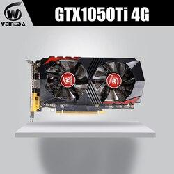 Scheda Video GTX1050Ti per Computer Scheda Grafica PCI-E GTX1050Ti GPU 4 GB 128Bit 1291/7000 MHZ DDR5 per nVIDIA geforce Gioco