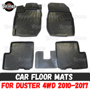 Car floor mats for Renault Duster 2010-2014 / 2015-2017 rubber 1 set / 4 pcs or 2 pcs accessories protect of carpet car(China)