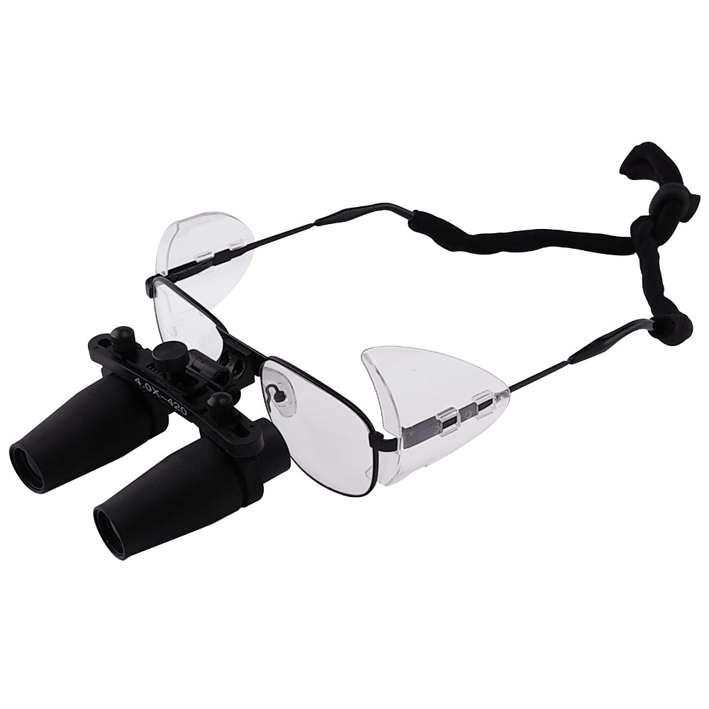 все цены на Nickel Alloy Frame 4.0x 4x Magnification Binocular Dental Loupes Surgical Medical Dentistry Prismatic Keplerian Style онлайн