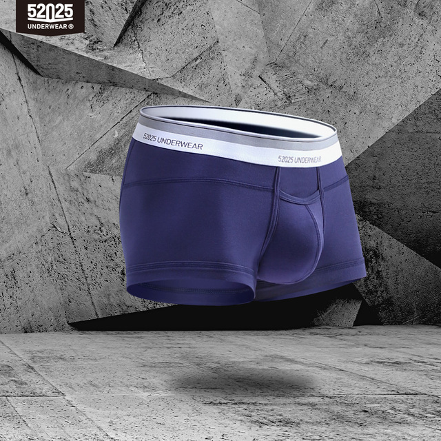 52025 hombres ropa interior boxeadores 3-Pack Micromodal tela Premium confort Horizontal volar transpirable suave de alta calidad Sexy ropa interior