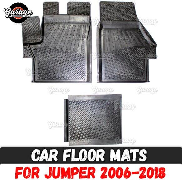Car floor mats case for Citroen Jumper 2006 2018 rubber 1 set 3 pcs accessories protect