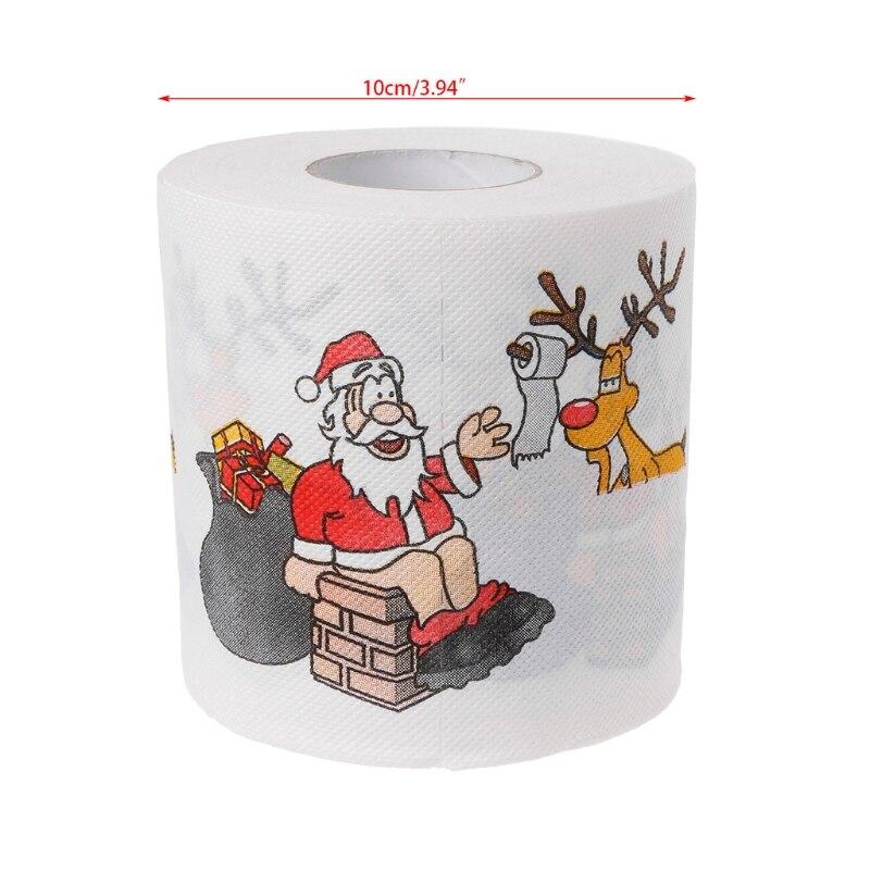 Купить с кэшбэком 2 Layers Christmas Santa Claus Deer Toilet Roll Paper Tissue Living Room Decor Toilet Tissue Gift