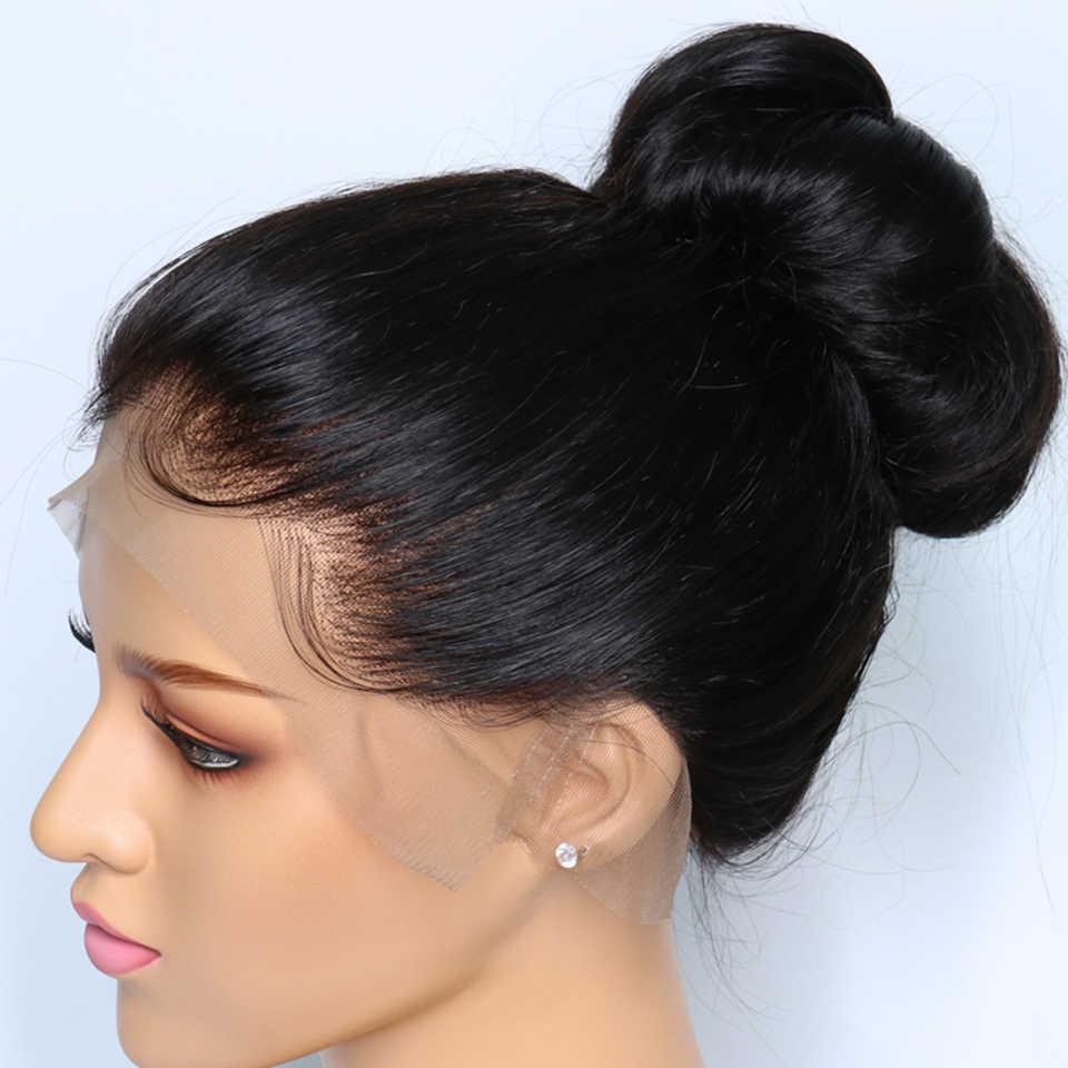 KL бразильские причёска Боб с прямыми волосами полные парики человеческих волос шнурка с волосами младенца вокруг фронта Безглютеновые парики Remy для черных женщин