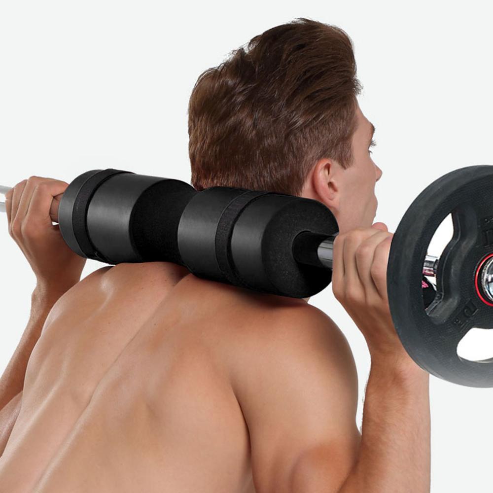 Black Foam Sponge Weightlifting Barbell Shoulder Squat Protection Sleeve 45*10cm -1
