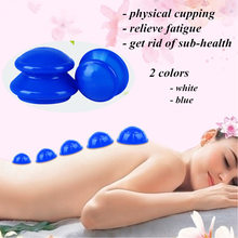 4Pcs vacuum cupping cans for massage ventosa celulitis suction cup Chinese suction cups face massage cans anti cellulite Therapy недорого