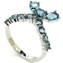 7.75 # Винтажный стиль Green Emerald Ladies Свадебный подарок 925 Черное золото Серебряное кольцо