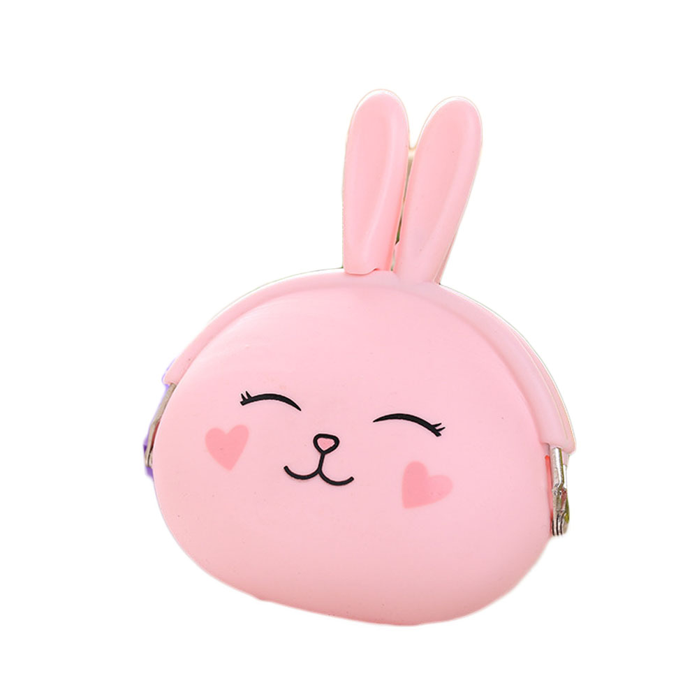 2018 New Cartoon Rabbit Coin Purse Lovely Pouch Women Girls Small Wallet Soft Silicone Coin Bag Kid Gift