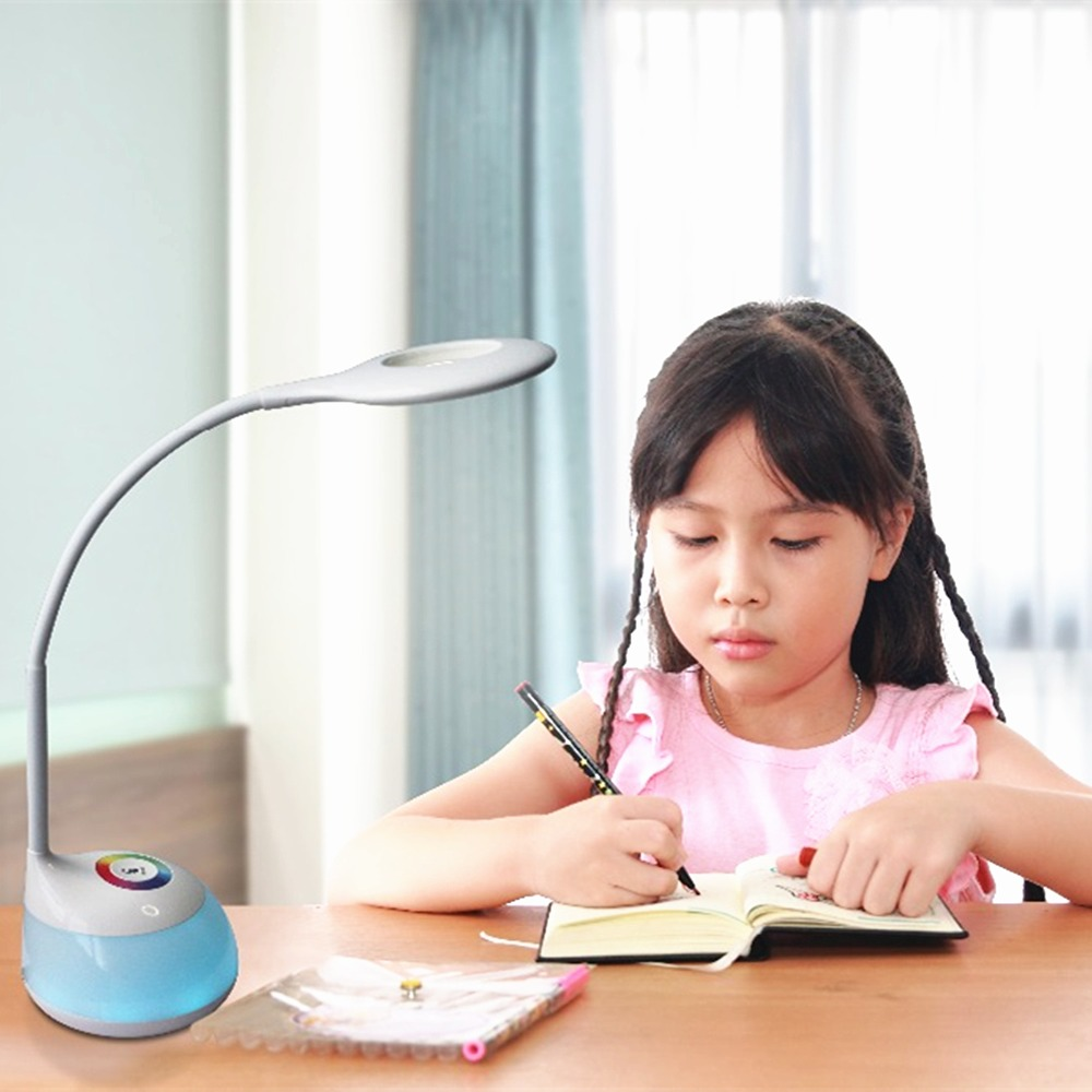 Dimmable LED Desk Lamp Night Eye Care Flexible Gooseneck Table Light with 3 Dimming Levels Touch Control Living Color Reading 2017 new 2 8w led table desk lamps luminaria de mesa 14 bulbs touch control 3 dimmable levels reading night light for home study