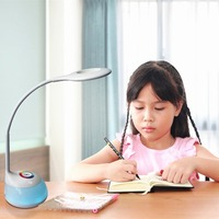 Dimmable LED Desk Lamp Night Eye Care Flexible Gooseneck Table Light with 3 Dimming Levels Touch Control Living Color Reading