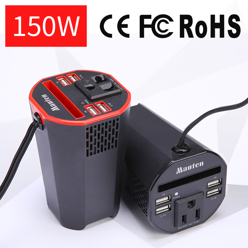 Die Neue Tasse typ Digitalisierung 150 watt Auto Inverter Power Inverter USB Smart Digital Display Inverter Ausgang Spannung 110 oder 220 v